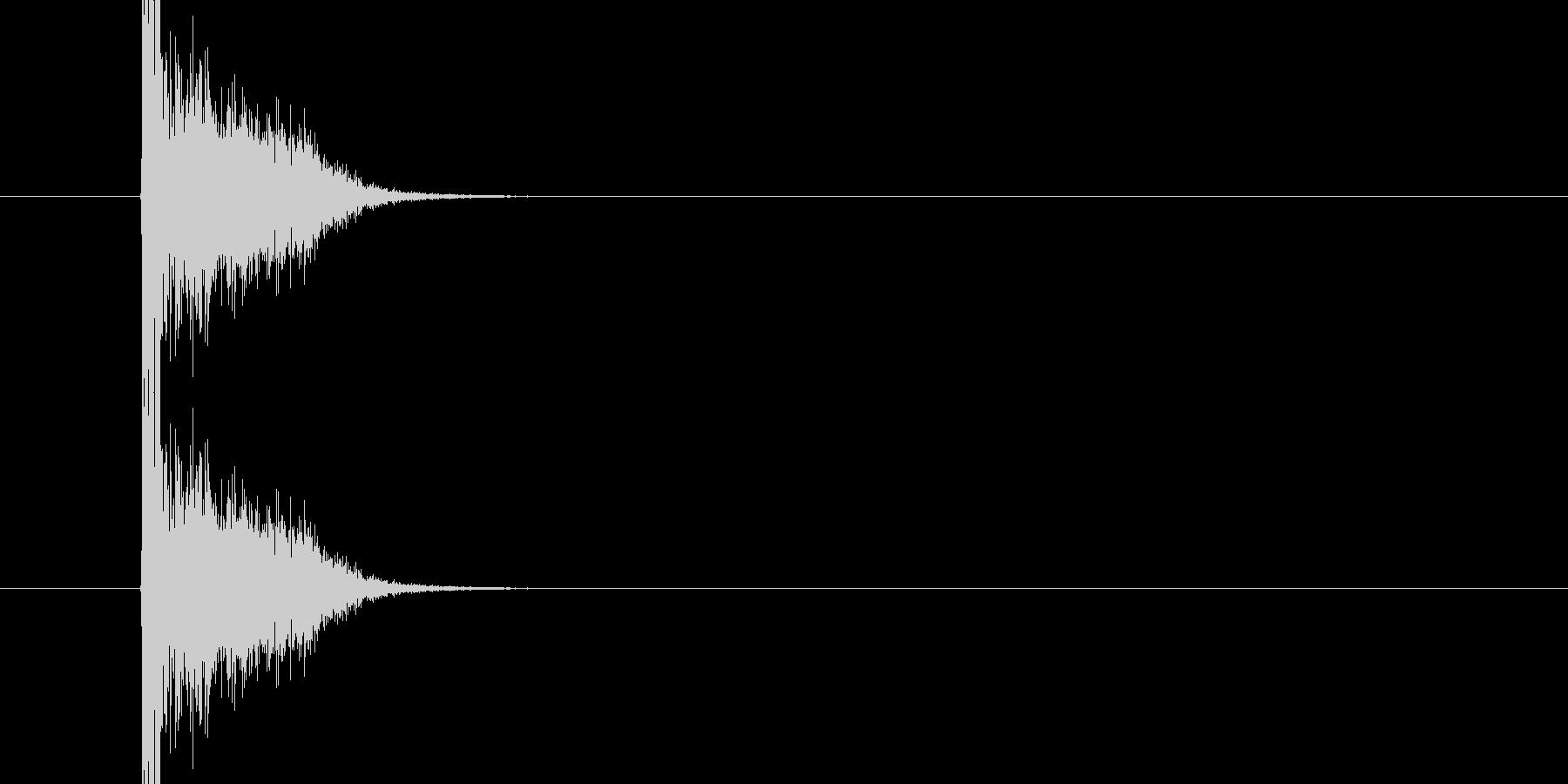 バシ ドン なパンチ、キックの打撃音02の未再生の波形