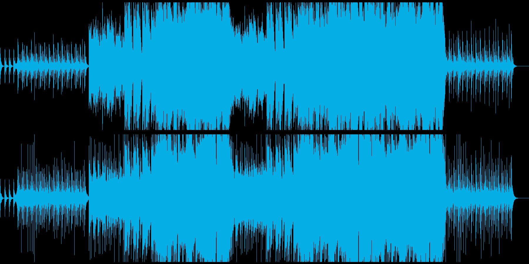 壮大で感動的な和風オーケストラ曲の再生済みの波形