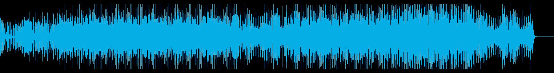 ファンキーで踊れるエレクトリックハウスの再生済みの波形