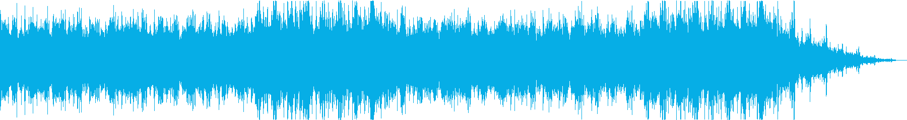 壮大な雰囲気のマーチ風オーケストラBGMの再生済みの波形