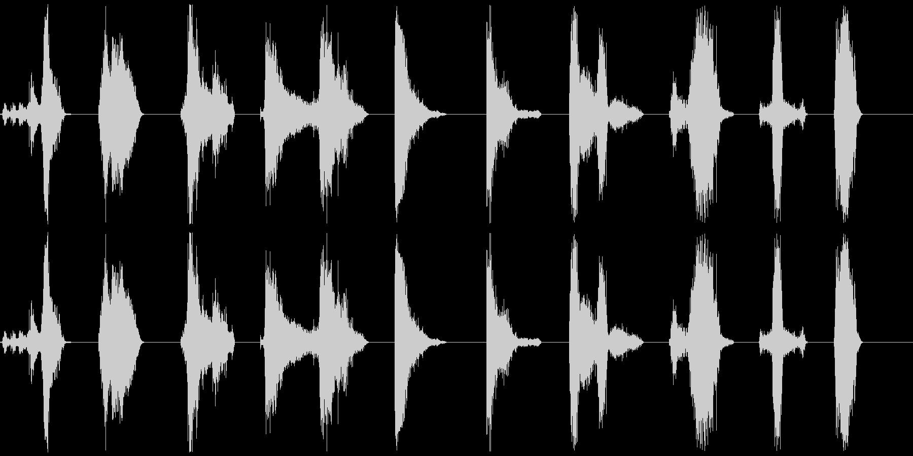 ゾンビ、シングルグロール呼吸11-20の未再生の波形