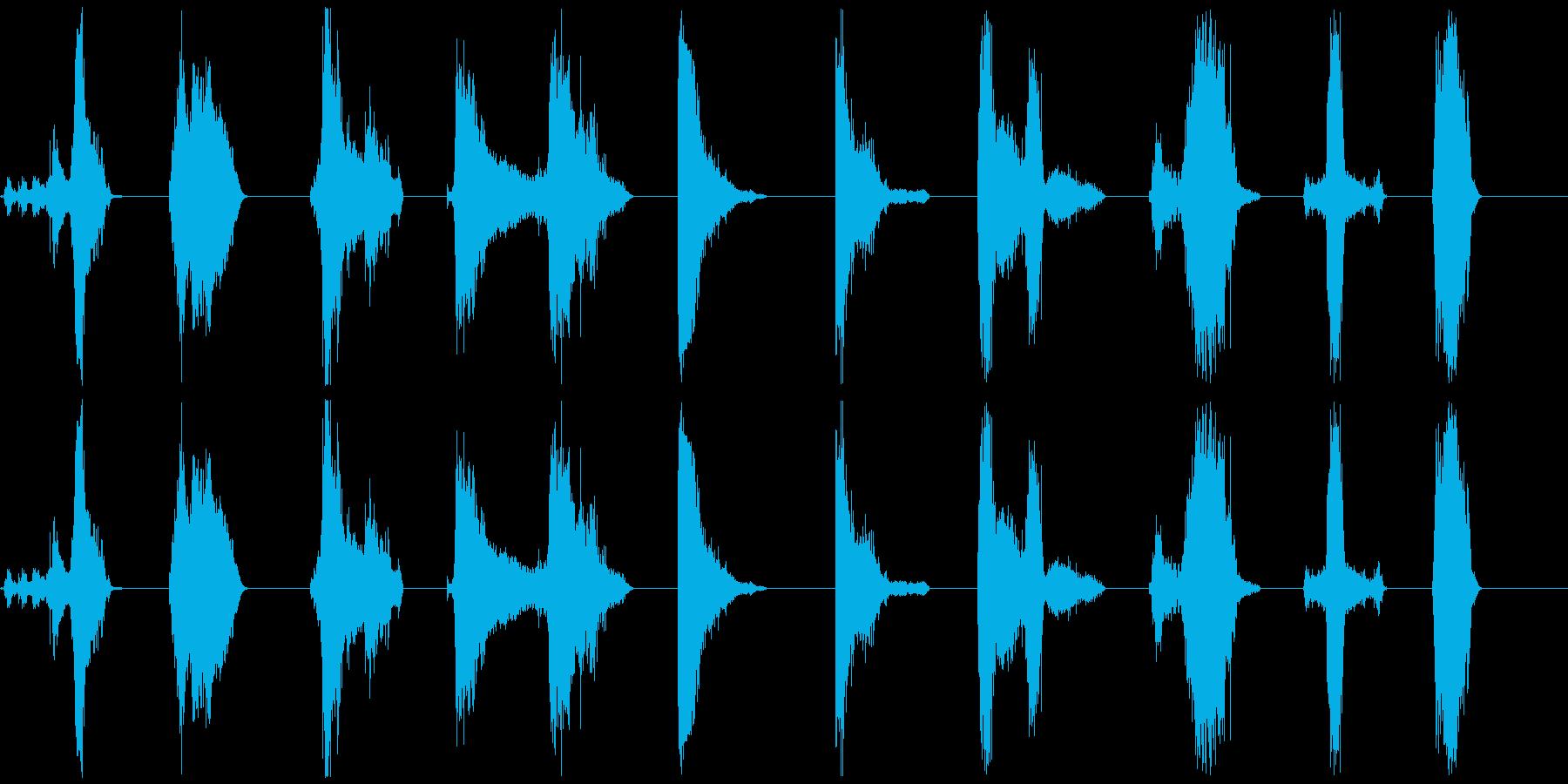 ゾンビ、シングルグロール呼吸11-20の再生済みの波形