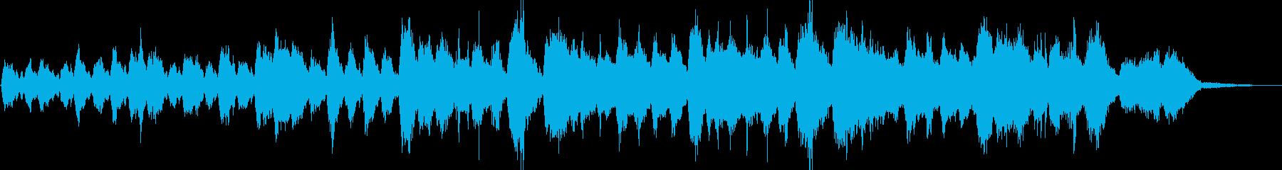 壮大で安らかなストリングスアンビエントの再生済みの波形