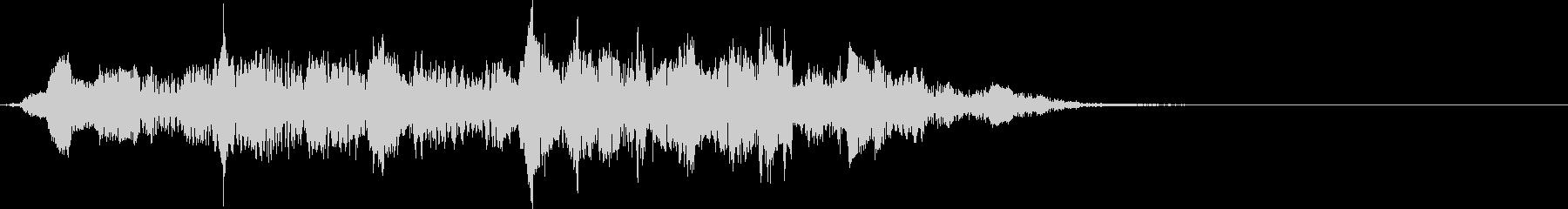 這いずる・触手を動かす音(低・長)の未再生の波形