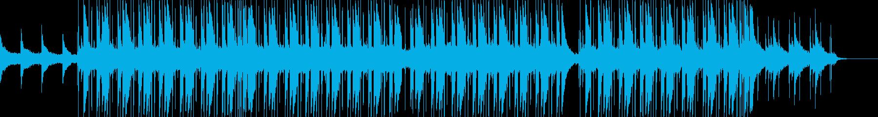 落ち着いた優しいメロディのヒップホップ曲の再生済みの波形