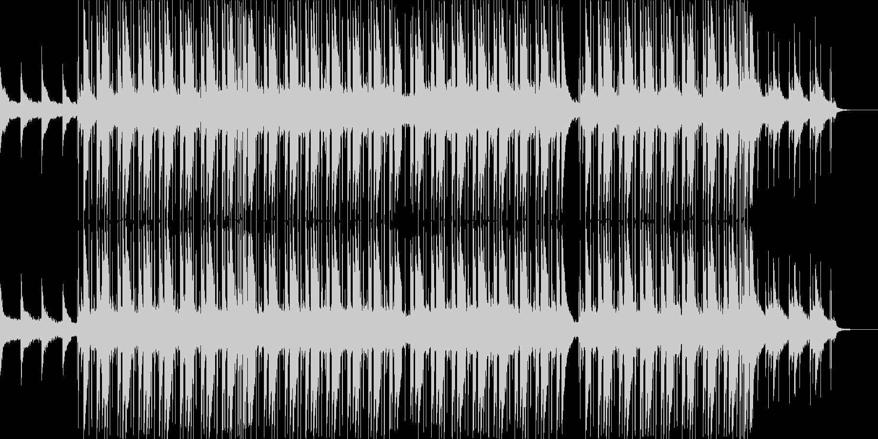 落ち着いた優しいメロディのヒップホップ曲の未再生の波形