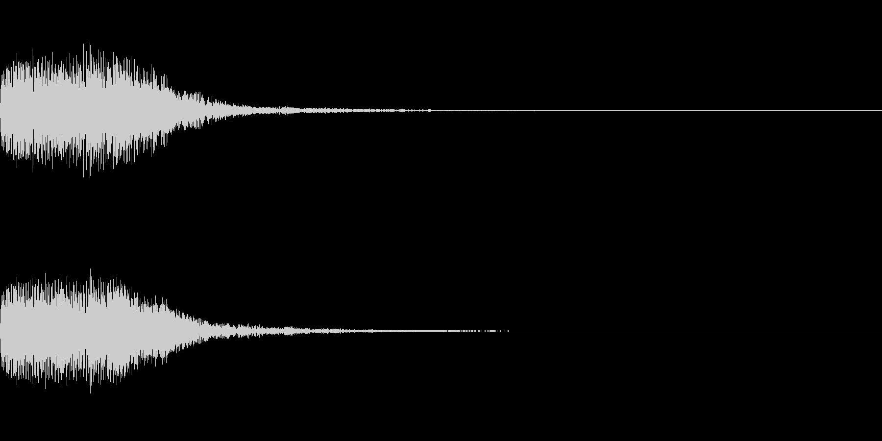 シンセサイザー 決定スタートセレクト3の未再生の波形