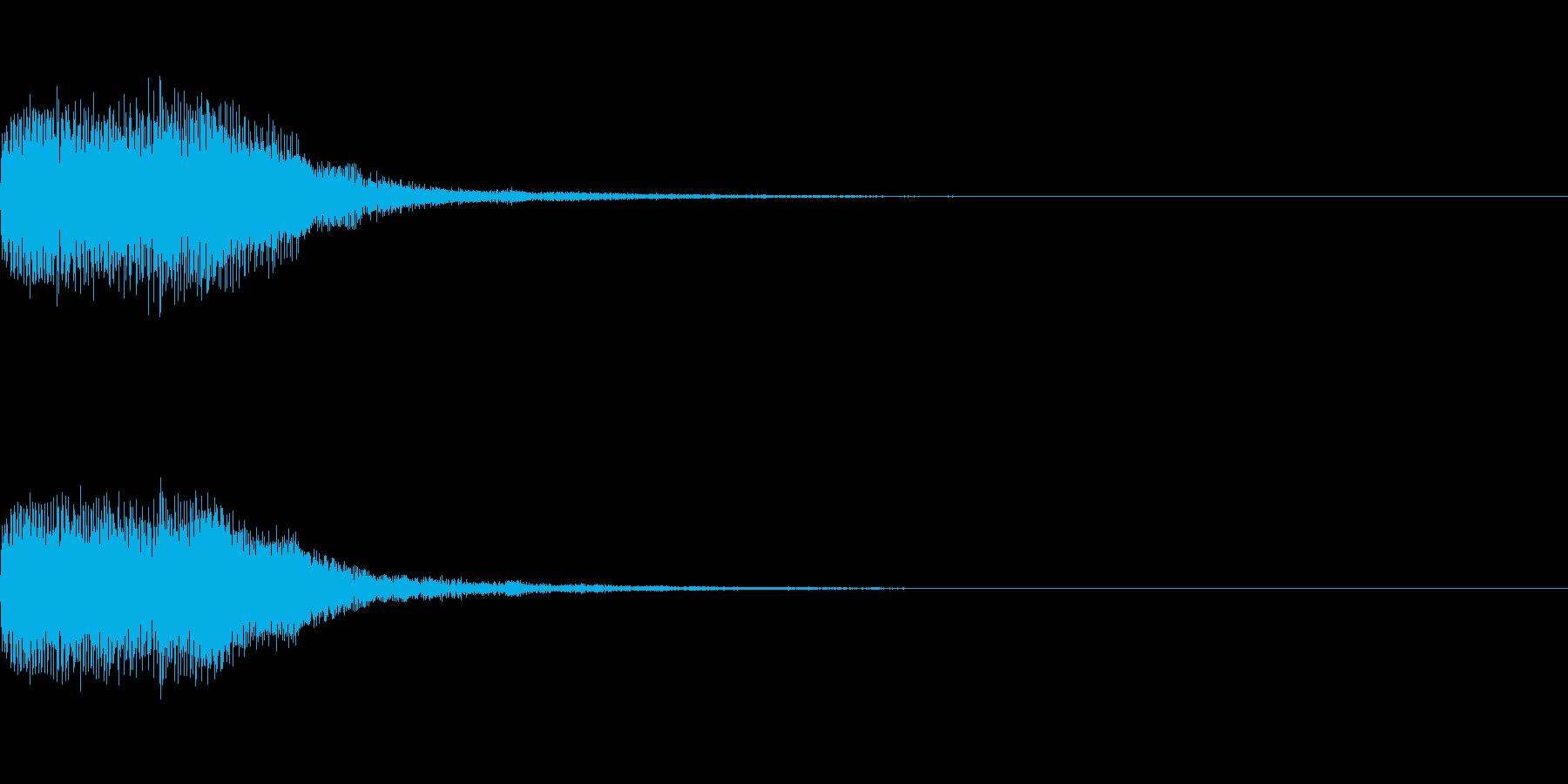 シンセサイザー 決定スタートセレクト3の再生済みの波形