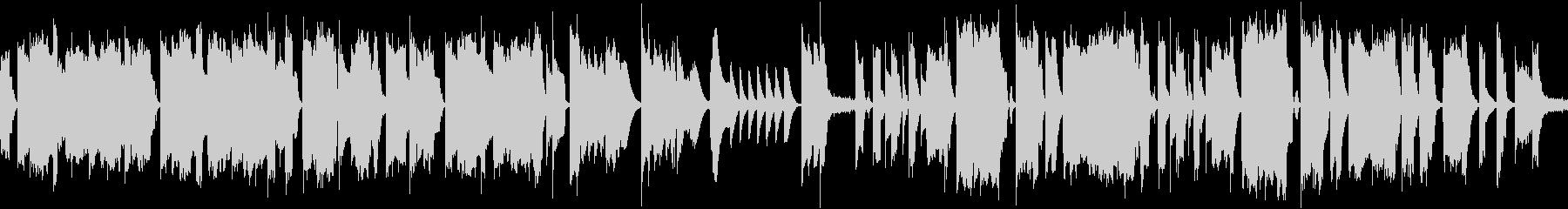 ほのぼのとしたゆるキャラBGMの未再生の波形