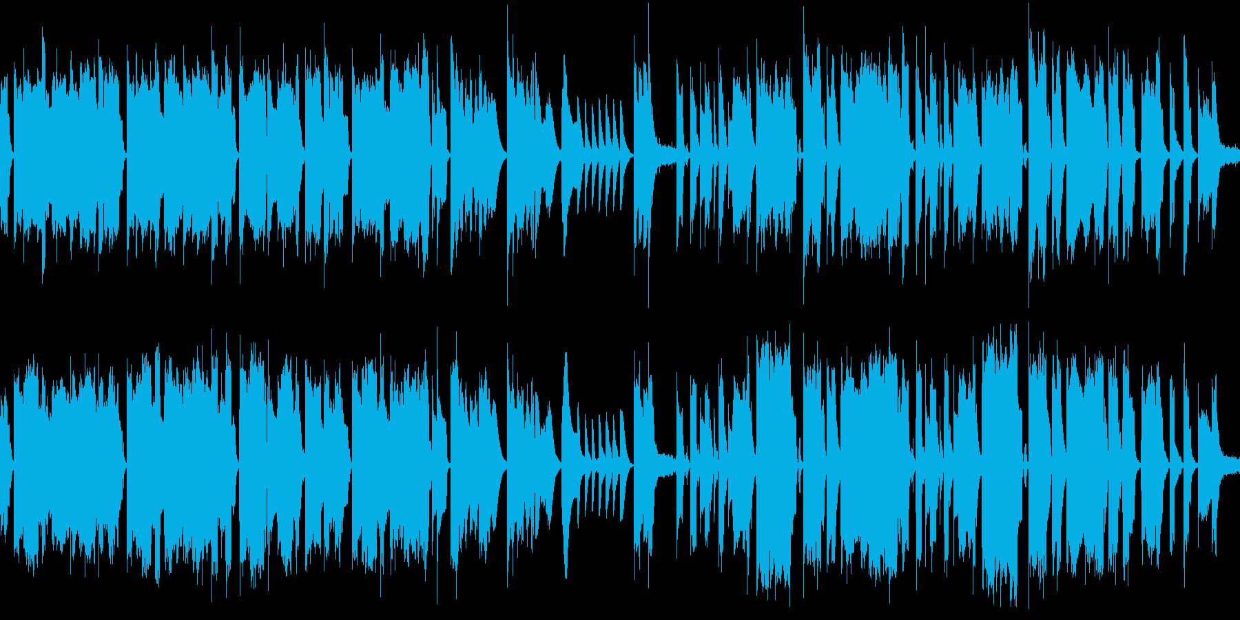 ほのぼのとしたゆるキャラBGMの再生済みの波形