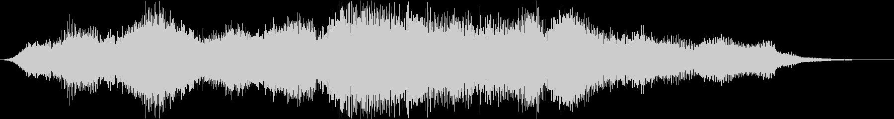 オーケストラによるサウンドロゴ、ジングルの未再生の波形