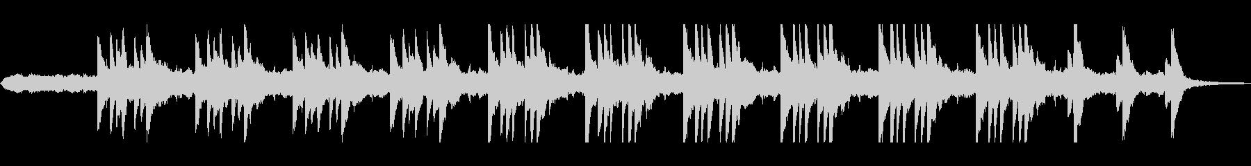 ピアノ旋律が神秘的なヒーリング曲の未再生の波形