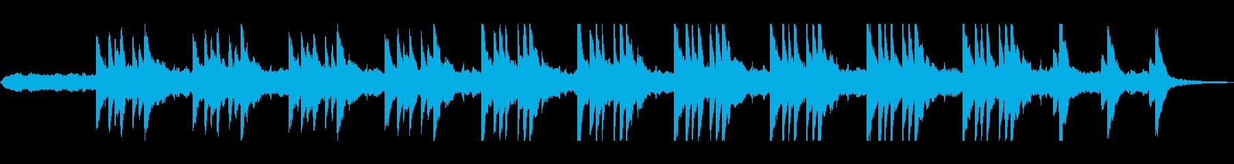 ピアノ旋律が神秘的なヒーリング曲の再生済みの波形