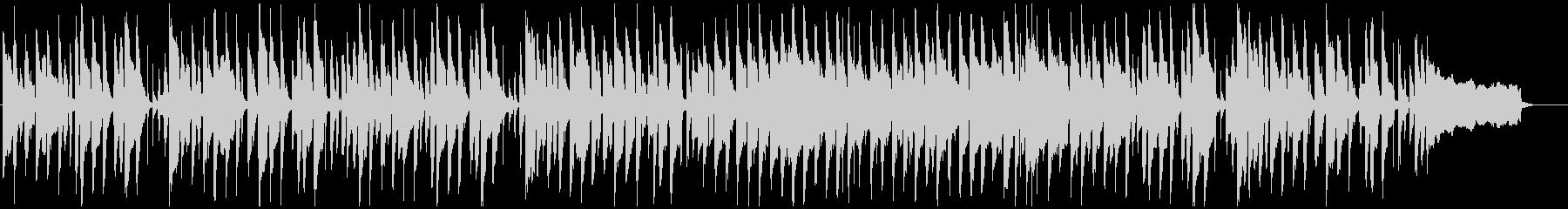 ゆるいリコーダーとピアノの劇伴、ほのぼのの未再生の波形