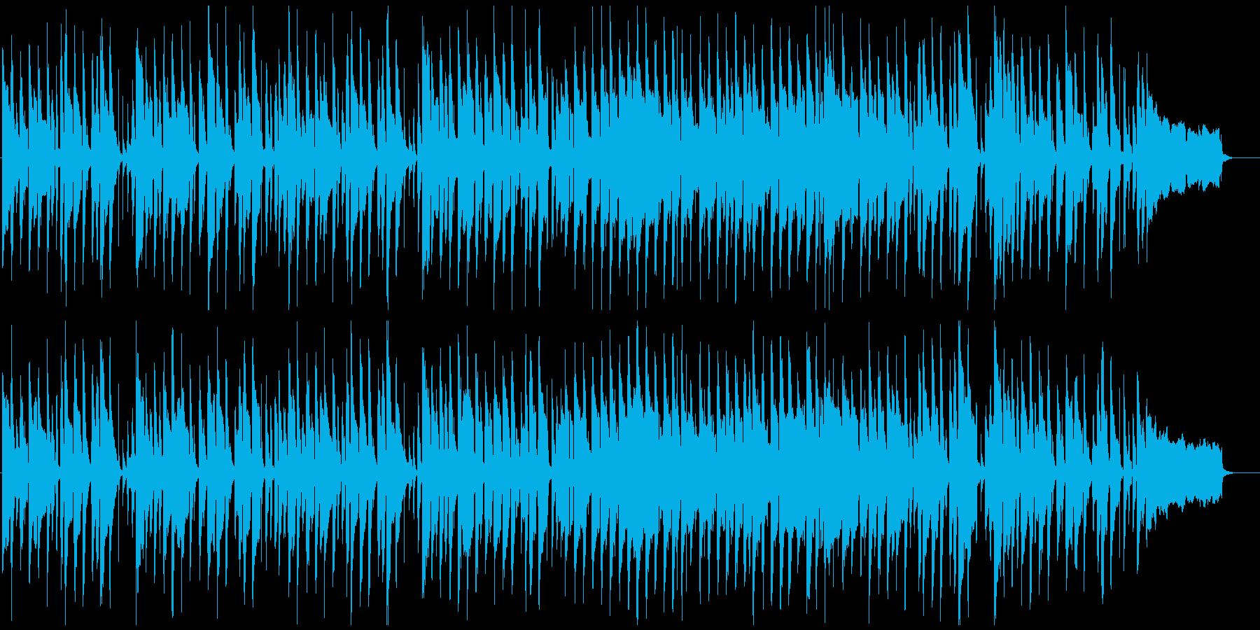 ゆるいリコーダーとピアノの劇伴、ほのぼのの再生済みの波形