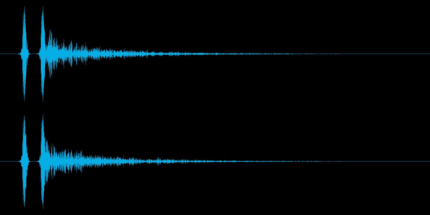 パン!ハンドクラップ/拍手の効果音!03の再生済みの波形