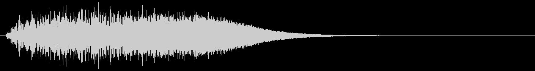 上昇系グリッサンド(キーA#)の未再生の波形