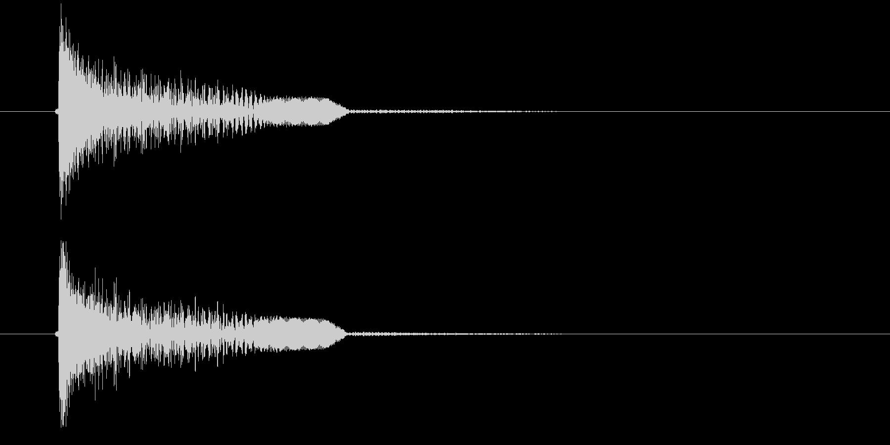 ドゥオーン(金属音)の未再生の波形