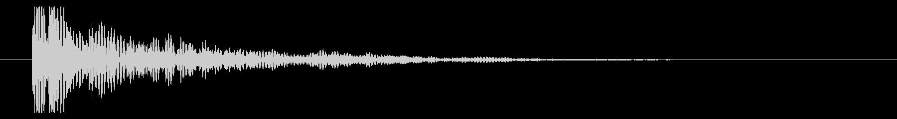 ガクン(弦を弾く音、残念、無念)の未再生の波形