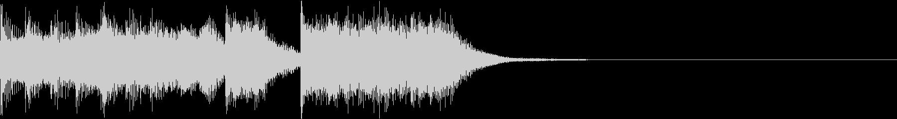 ファミコン風 レトロ ファンファーレ Fの未再生の波形