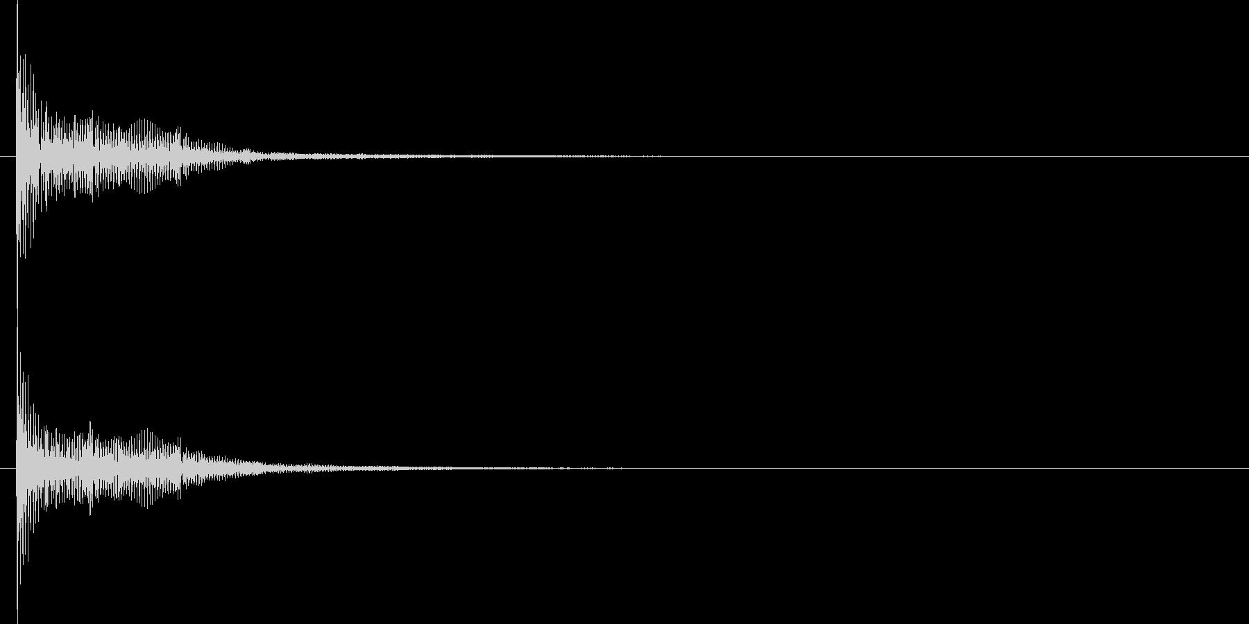 ビーム ワンショット15の未再生の波形