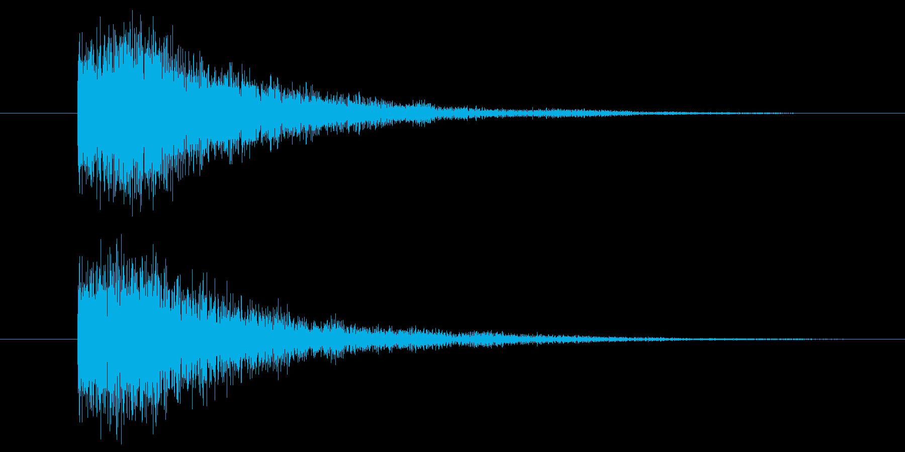 暗めの鐘の音の再生済みの波形