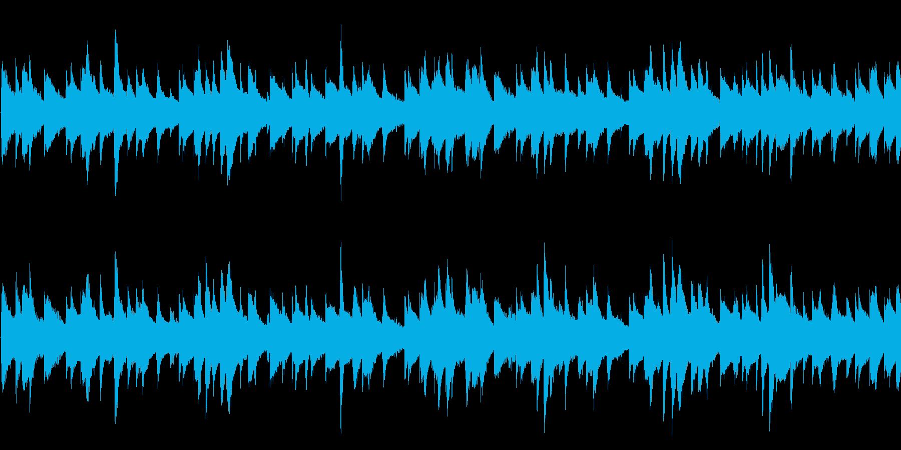 Lo-fi HipHop ループの再生済みの波形