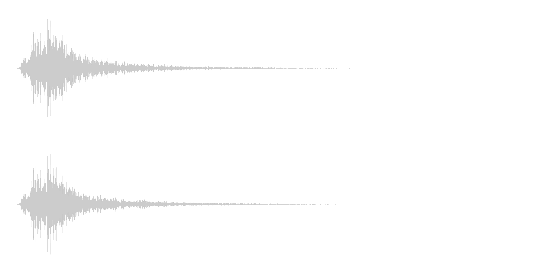 神楽鈴01-5の未再生の波形