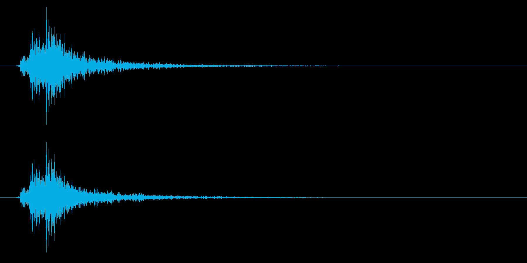 神楽鈴01-5の再生済みの波形