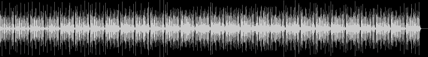 ノリがいいベースが主役のファンク調の曲の未再生の波形