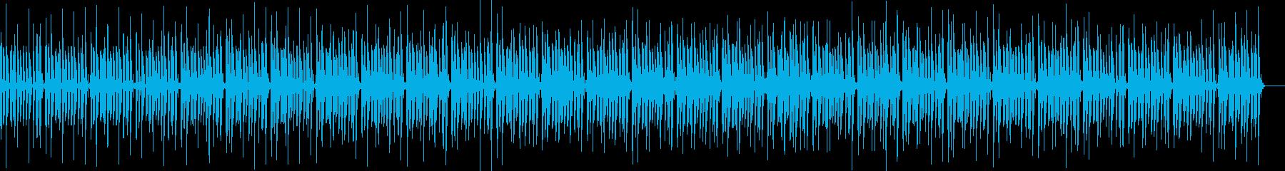 ノリがいいベースが主役のファンク調の曲の再生済みの波形