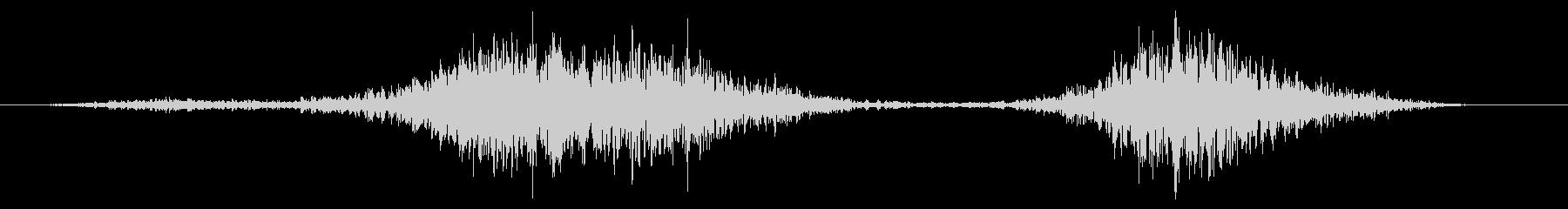 シンフライアウトウーッシュの未再生の波形