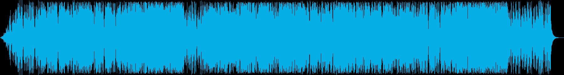 陽気なサックスシンセなどのサウンドの再生済みの波形