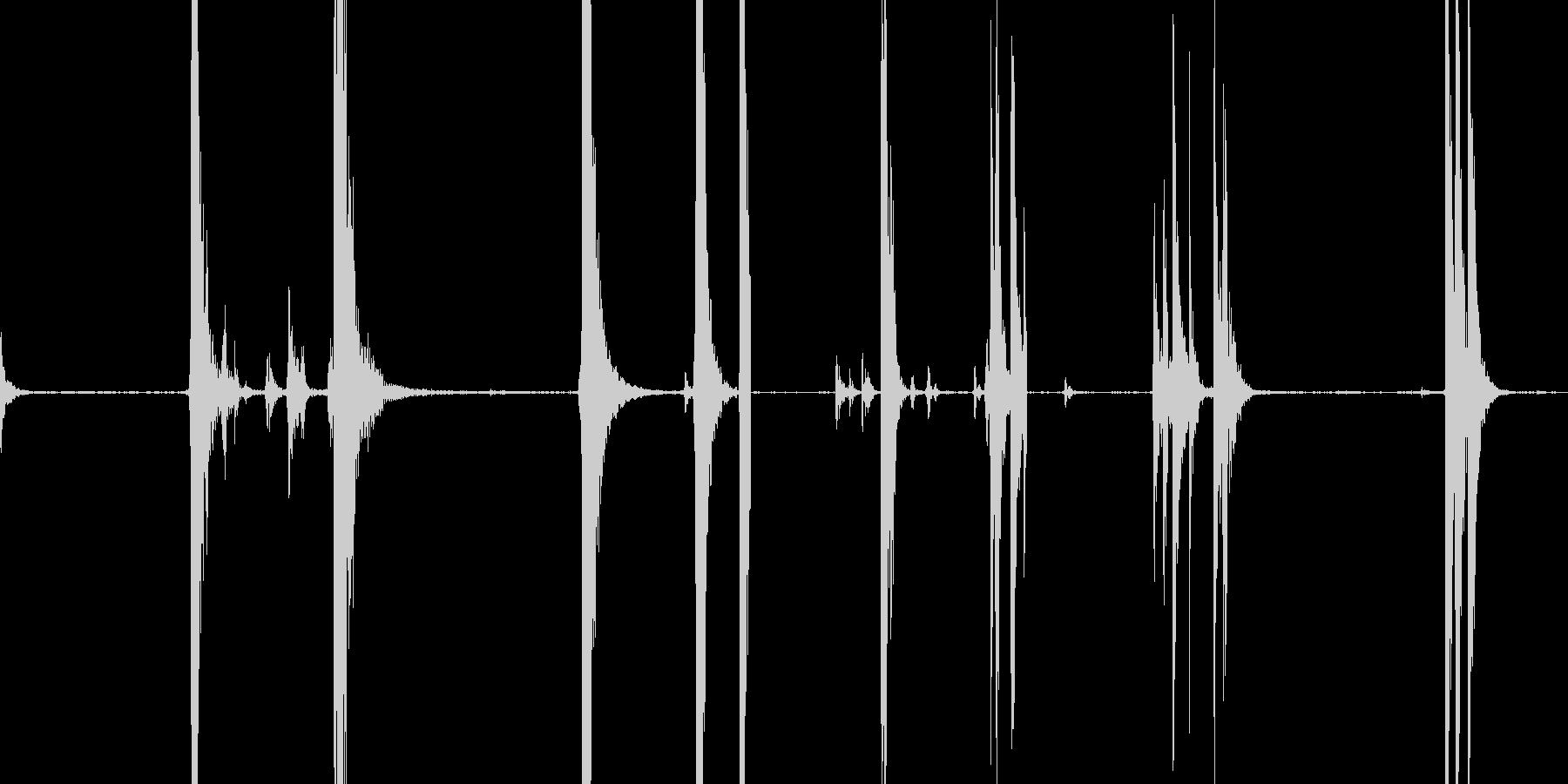 金属衝撃、さまざまの未再生の波形