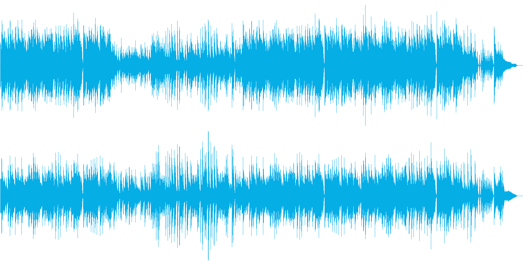 軽快ジャズ♪童謡・こいのぼりピアノBGMの再生済みの波形