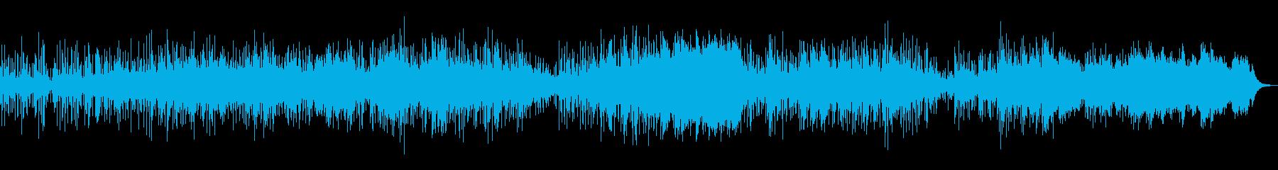 神秘的で広がりのあるシンセのアンビエントの再生済みの波形