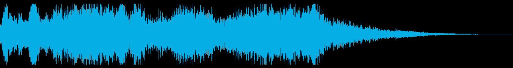 結婚式風ファンファーレの再生済みの波形