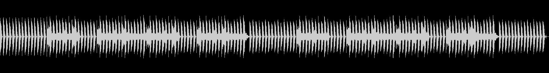 気の抜けたピアノのジングル3(ループ)の未再生の波形