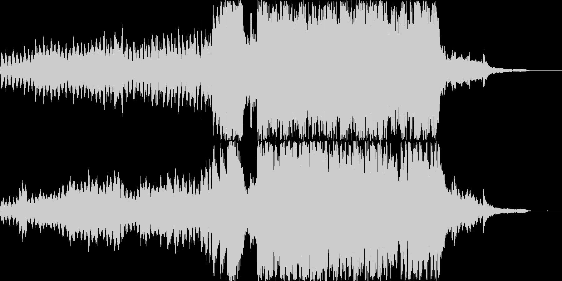 上品でわくわくした美しい紹介BGMの未再生の波形