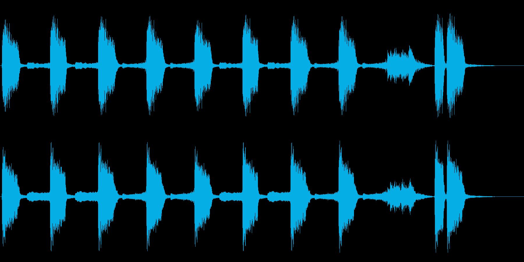 コミカルな実験シーンで流れる感じですの再生済みの波形