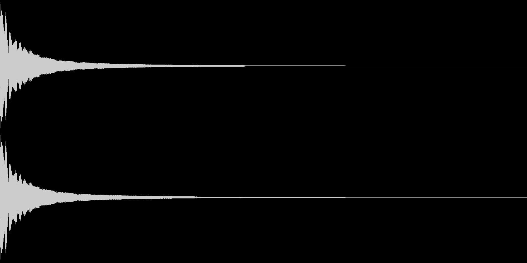 リアルなお寺の鐘の音02の未再生の波形