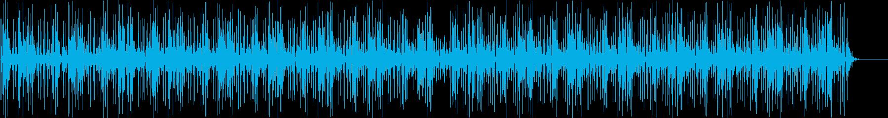 映像向けのエレクトロニック系BGMの再生済みの波形