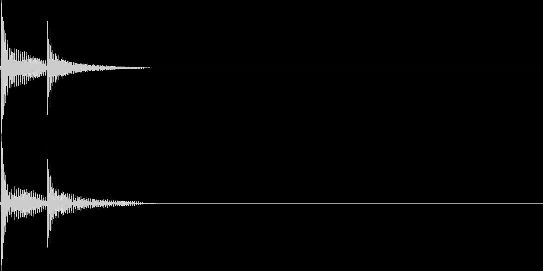 ポップアップサウンドの未再生の波形