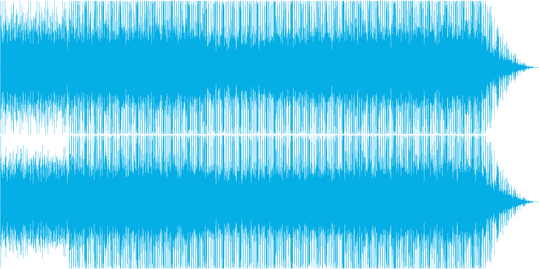 コンピューターグラフィックなどに合う曲の再生済みの波形