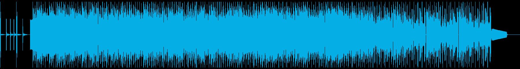 賑やかで雰囲気のあるヒップホップの...の再生済みの波形
