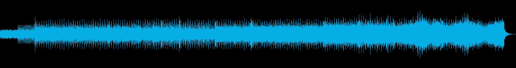 感動的で切ない持続音多めのシンセサウンドの再生済みの波形