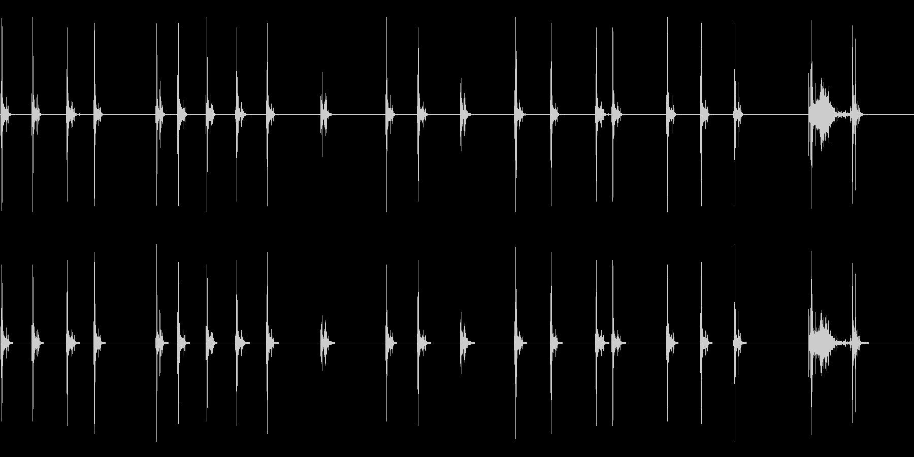 【タイプライターを打つ】ゆっくりとの未再生の波形