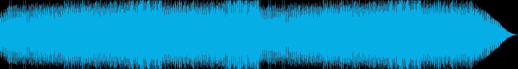 アップテンポで慌ただしい、コミカルな曲の再生済みの波形