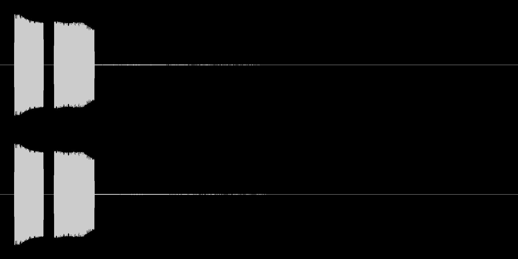 キュピ①(ポップ・鳴き声・エモーション)の未再生の波形