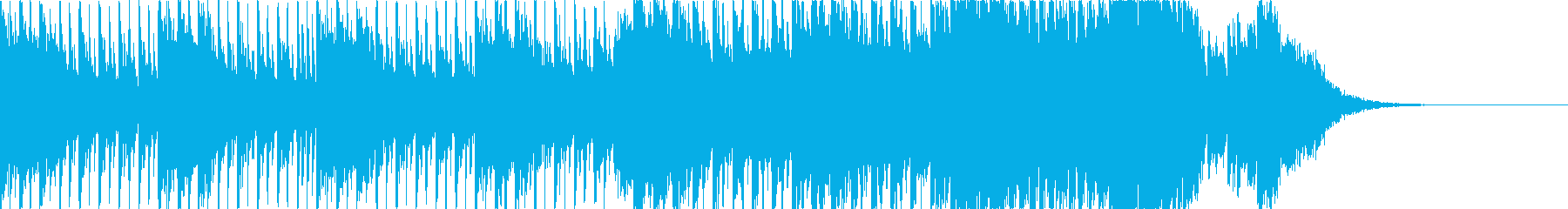 短めのハードダンスのジングルの再生済みの波形